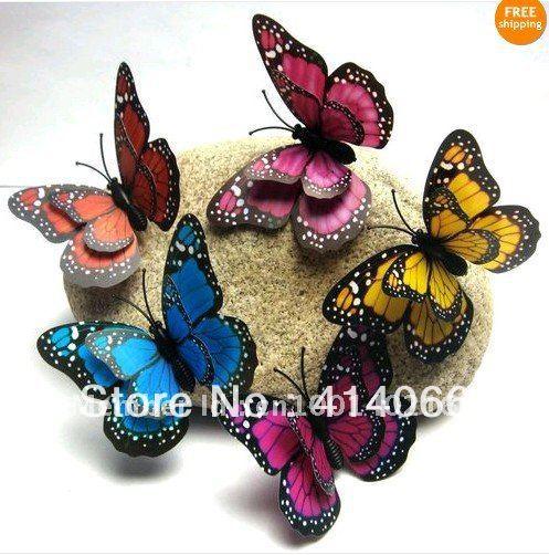 Caliente y venta al por mayor envío gratis 48 unids 3D pegatinas de pared de la