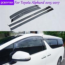 Car Stylingg Awnings Shelters 4pcs/lot Window Visors For Toyota Alphard 2010-2017 Sun Rain Shield Stickers Covers