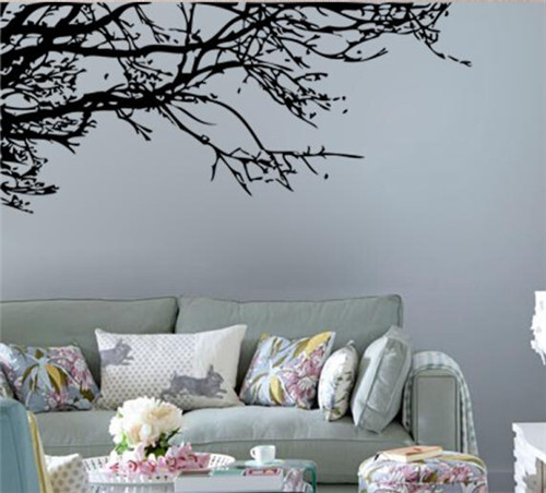 Landscape Wall Decals Nature Living Room Wall Stickers Tree Removable vinyl  Ink Painting Wallpaper Poster Home