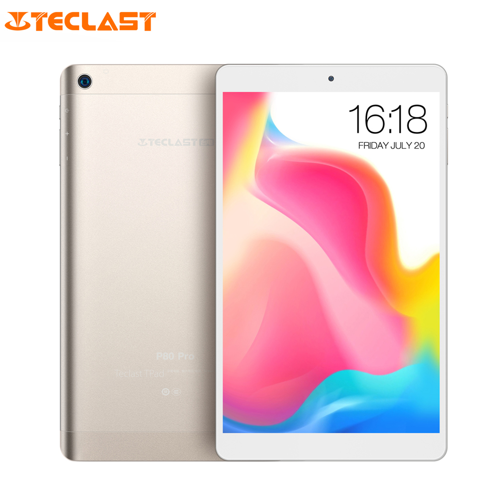 Teclast P80 Pro Tablet PC 8.0 inch Android 7.0 MTK8163 Quad Core 1.3GHz 2GB RAM 16GB eMMC ROM Double Cameras Dual WiFi HDMI ipega pg 9701 7 quad core android 4 2 gaming tablet pc w 2gb ram 16gb rom holder hdmi black