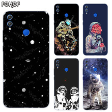 Soft TPU Print Hull Case For Huawei Honor V20 8X 7 8 9 10 lite 7X 8A V9 Play Frosted Fundas Cover Space Moon Astronaut