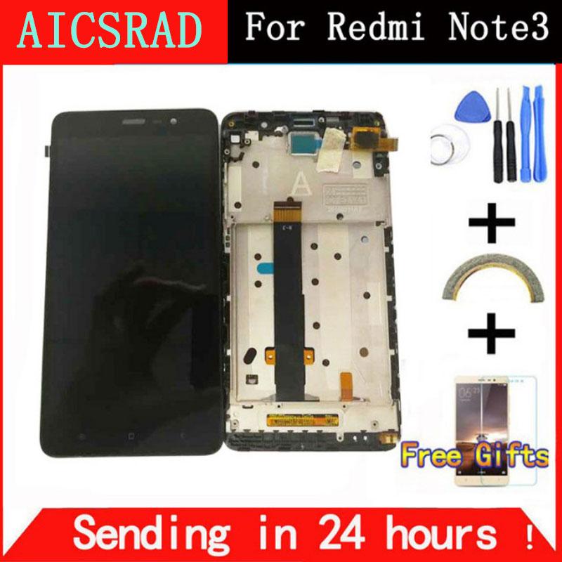 AICSRAD LCD Dello Schermo per Xiaomi Redmi Nota 3 Pro Soft-chiave Retroilluminazione del Display LCD + Touch Screen per Xiaomi redmi Nota 3 146mm
