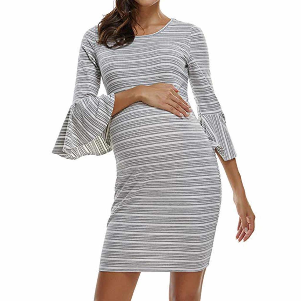 MUQGEW בגדי הנקה שמלת קיץ בהריון נשים חתונה שמלת עבור בהריון נשים ropa אימהי mujer # p8