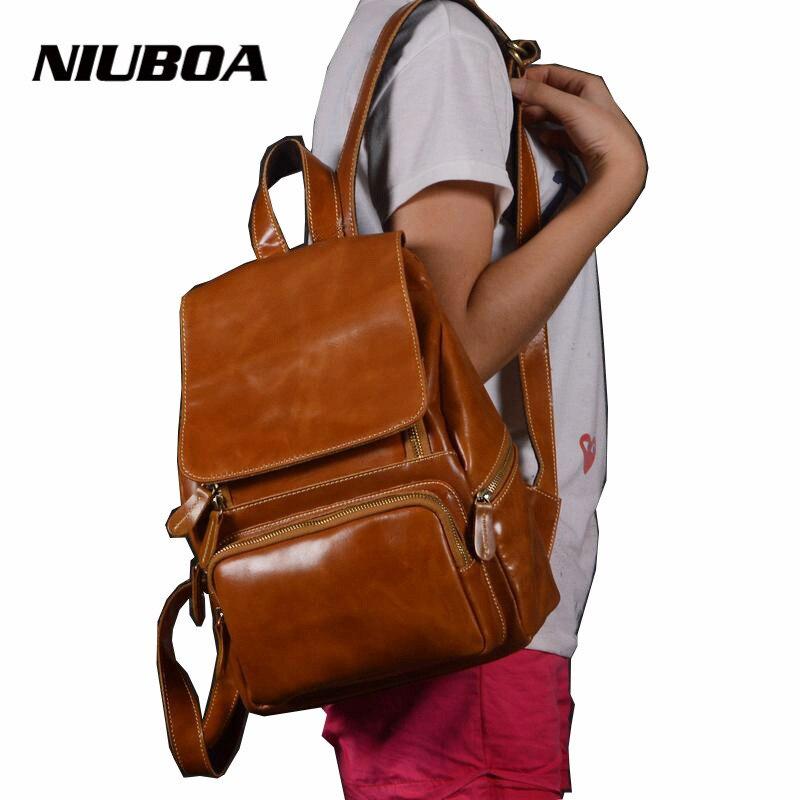 ФОТО Women Backpacks High Quality Genuine Leather Mochila Escolar School Bags CasualTeenagers Girls Travel Backpacks Herald Fashion