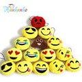 2 pçs/lote 5 cm Emoji Smiley Emoticon Pequeno Pingente De Pelúcia Macia Brinquedos de Pelúcia Chave & Saco Cadeia Cinta Do Telefone