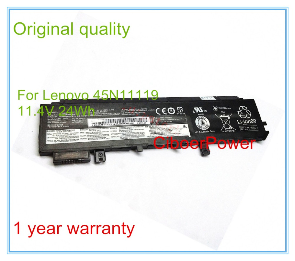 11.4V 24Wh Original New Laptop Battery for X230S Ultrabook 45N1119 45N1118 45N1117 45N1116 2017 liitokala 2pcs new protected for panasonic 18650 3400mah battery ncr18650b with original new pcb 3 7v