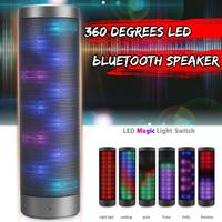 Mini Wireless bluetooth Speaker 3D LED Light HIFI Stereo Portable 360 Degree Sound Speakers for Outdoor Sports Gifts