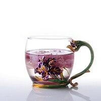 Tazza di caffè Tazza di Tè di Alta qualità resistente Al Calore di Vetro Marchio Creativo Fiore Articoli e Attrezzature per Acqua  Caffè  Tè Amico Regalo