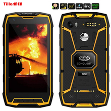 Original Conquest S9 8 Octa Core Android 5.1 5.5″ FHD 1920×1080 4G LTE FDD GPS ip68 Rugged Waterproof Phone Big 6000mAH battery