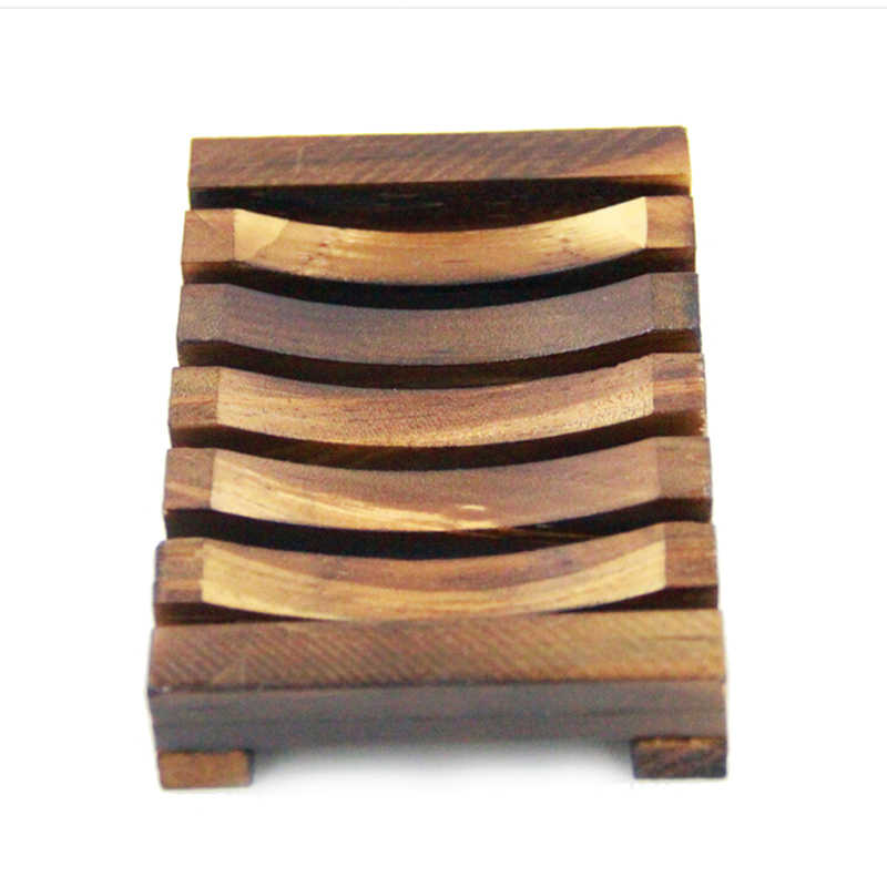 1 sztuk drewna kolor drewna kuchnia łazienka gąbka mydelniczka płyta uchwyt skrzynki pojemnik półka węgla