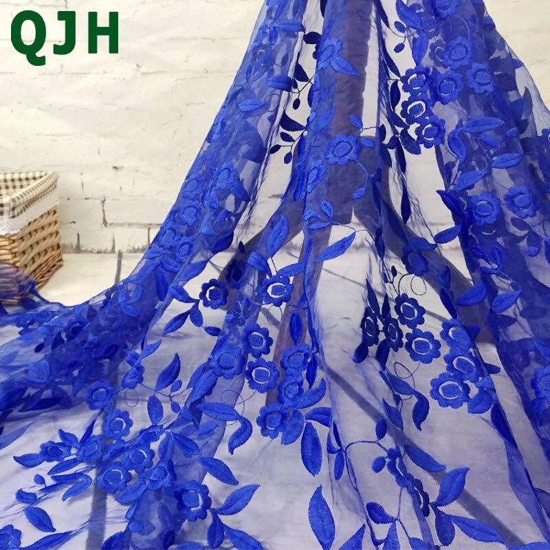 Marque Organza soluble dans L'eau dentelle Broderie Mesh Français Voile Lait Soie Dentelle Tissu pour Robe De Mariée accessoires de Vêtement Rouge