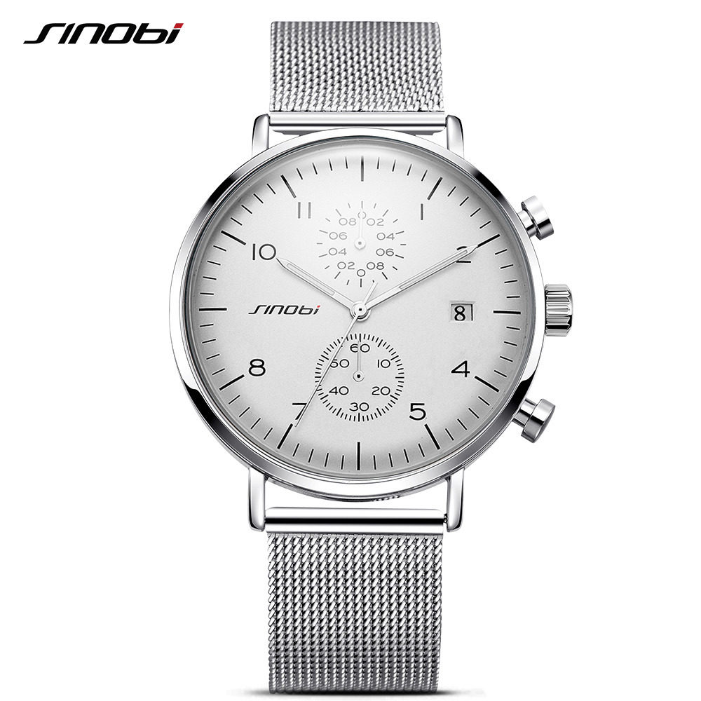 SINOBI New Men Watch Brand Business Watches For Men Ultra font b Slim b font Style