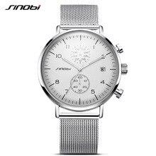 SINOBI New Men Watch Brand Business Watches For Men Ultra font b Slim b font Style