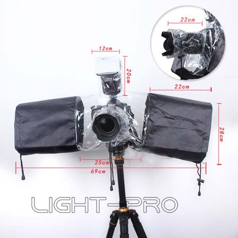 Camera Rain Cover Coat Dust Protector Rainwear Rainproof for Canon 1200D  760D 650 for Nikon D760 D810 D610 D7200 D3300