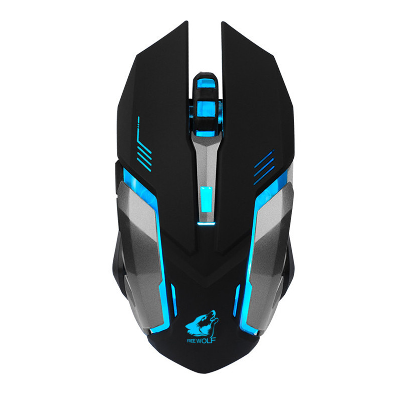Rechargeable Wireless Silent LED Backlit USB Optical Ergonomic Gaming Mouse For Laptop A8