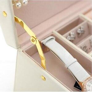 Image 5 - Büyük takı ambalaj ve ekran kutusu PU deri çok katmanlı takı kolye kutusu kozmetik kutusu mücevher kutusu lüks organizatör