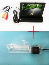 Цвет заднего вида Камера для Nissan March Renault Logan Sandero, с 4.3 дюймов складной ЖК-дисплей TFT Мониторы