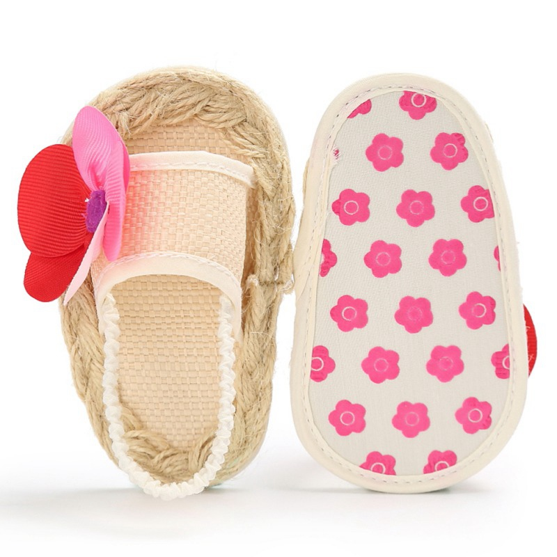 Newborn Summer Hemp Shoes For Floral Girls Rope Beach Dotted Baby 0-18M