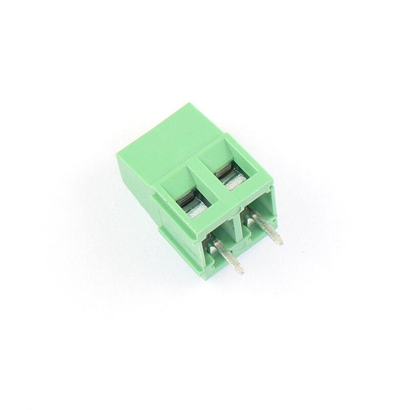 100Pcs/lot KF128-2P 3.81mm Pitch Straight Pin 2P Screw PCB Terminal Block Connector PCB Universal Screw Terminal Block Connector