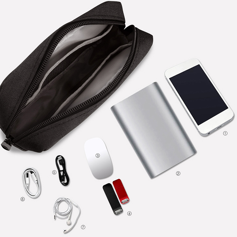 2019 Digital Accessories Storage Bag U Disk Organizer For Travel USB Cable Charger Mouse  Mobile Power Hard Protection
