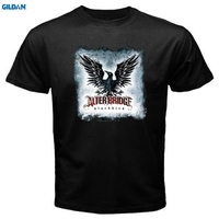 GILDAN New Alter Bridge Blackbird Rock Band Men S White Black T Shirt Print T Shirt