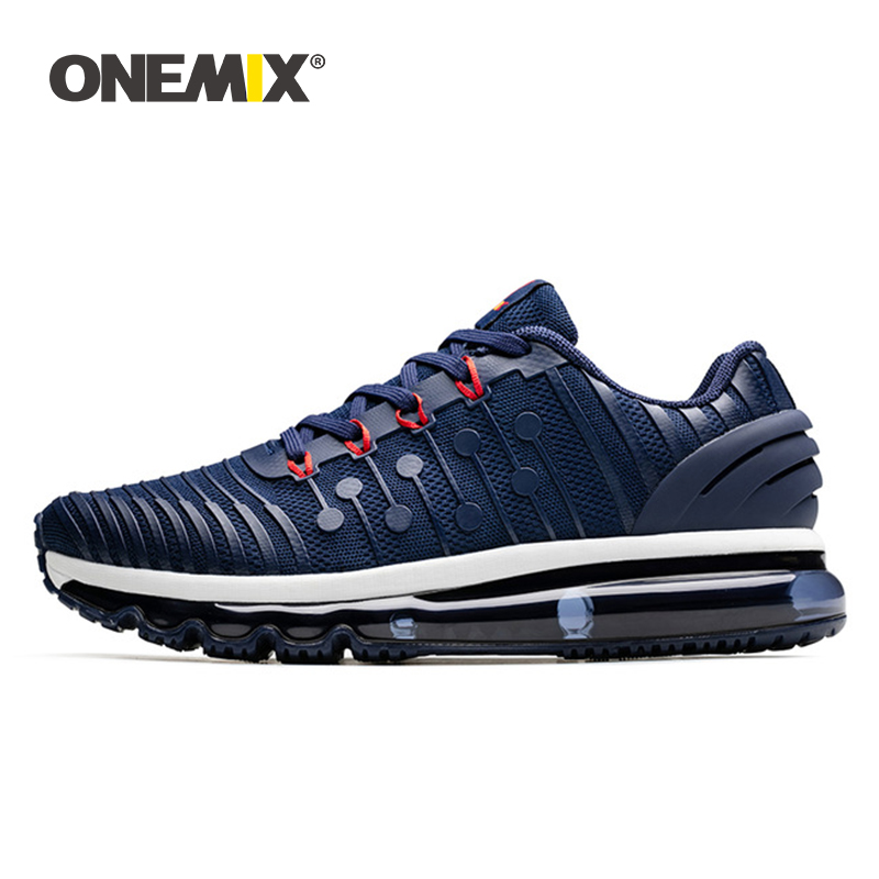 ONEMIX 2020 Air Cushion Sneakers For Men Running Shoes Women Jogging Shoes KPU Vamp Outdoor Trainers Walking Trekking Shoes