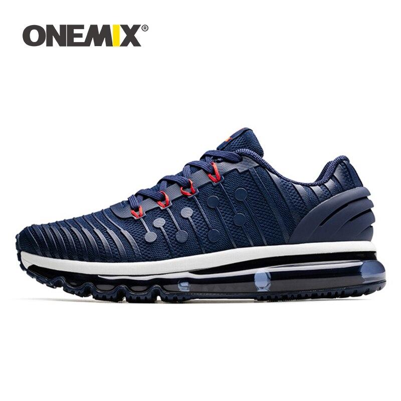 ONEMIX 2020 Air Cushion Sneakers For Men Running Shoes Women Jogging Shoes KPU Vamp Outdoor Trainers Walking Trekking Shoes