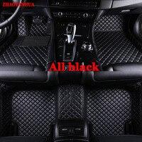Custom fit car floor mats for all models Ford Focus Escort Titanium Mondeo Fiesta S max Raptor Cobra Ecosport Kuga Car Styling