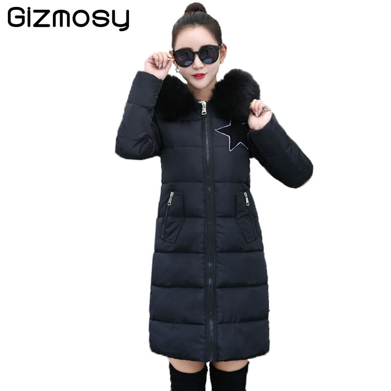 1PC Plus Size Winter Jacket Women Winter Coat Hooded Parka Jaqueta Feminina Chaquetas Mujer Casacos De Inverno Feminino SY1045