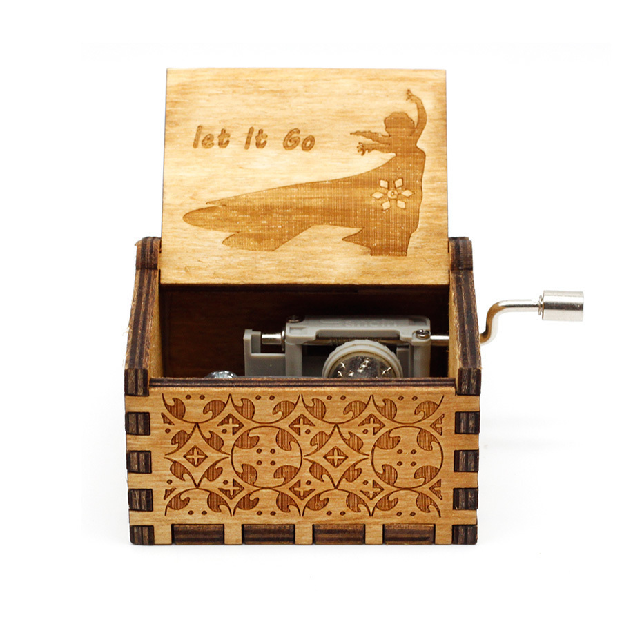 Новая музыкальная шкатулка Juego De Tronos Star Wars, игра в тронный замок в небо, деревянная музыкальная шкатулка, рождественский подарок - Цвет: let le go