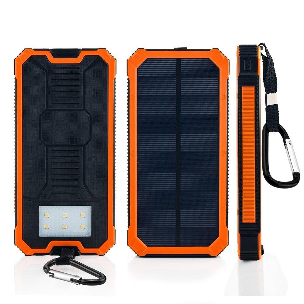 bilder für 20000 mAh Dual USB Tragbare Solar-ladegerät Bewegliche Energienbank Externe Batterie für Smartphone mit LED-Licht