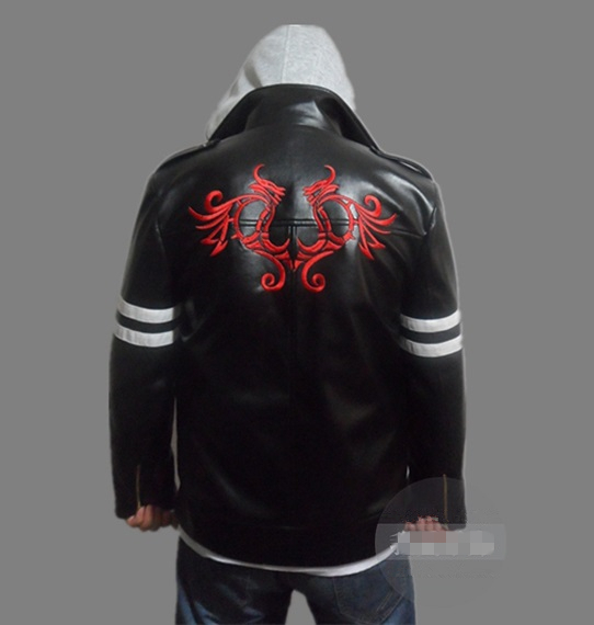 New Prototype Alex Mercer Cosplay Costume Embroidered Jacket PU Leather Coat Halloween Costumes For Women/Men Custom Any Size