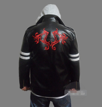 Prototype Alex Mercer Embroidered Jacket Top Coat PU Leather Cosplay Costume High Quality S-XXL
