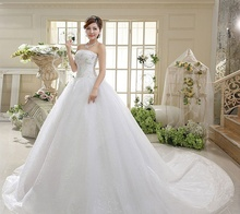 2016 High Quality Off the Shoulder Princess Wedding Dresses Beadings with Court Train Bridal Gowns 100% Real Image ZY3536
