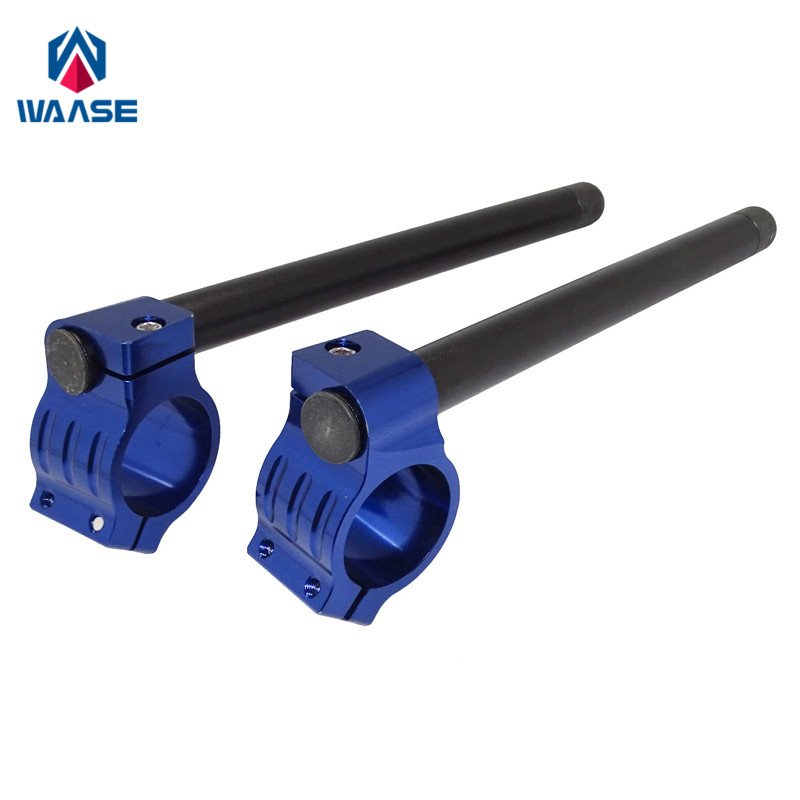 waase 7/8 22mm Handlebar Clip Ons Fork Handle Bars Grips 31 33 35 36 37 39 41 43 45 46 48 MM For Yamaha For Suzuki For Honda plastic handle cuticle fork red