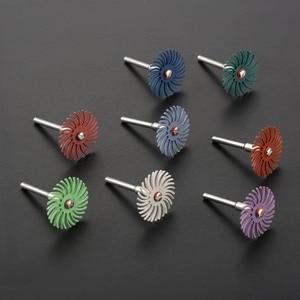 Image 5 - DRELD accessoires Dremel, brosse Abrasive, à poils radiaux, roue de polissage, grain mixte + mandrin de 2 pièces pour outils rotatifs, 10 pièces
