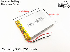 Image 2 - 3.7V 2500mAh 505068 Lithium Polymer Li Po li ion Rechargeable Battery cells For Mp3 MP4 MP5 toy mobile bluetooth