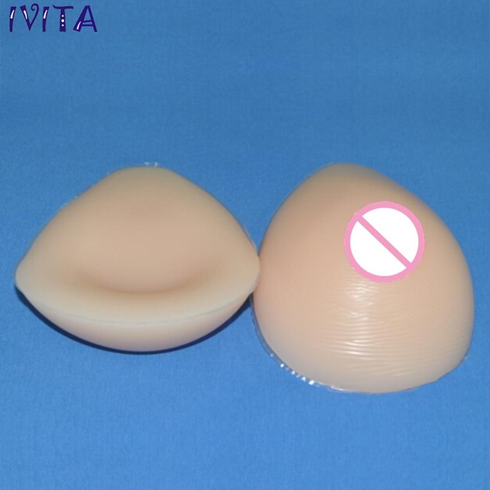 цены  IVITA 2000g/pair Beige Water Drop Silicone Fake Breast Boob Forms For Women With Flat Chest Crossdresser Mastectomy Transvestite
