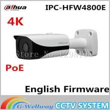 2016 Hot Sale Dahua 4K Ultra HD Network Small IR-Bullet Camera IPC-HFW4800E English Firmware