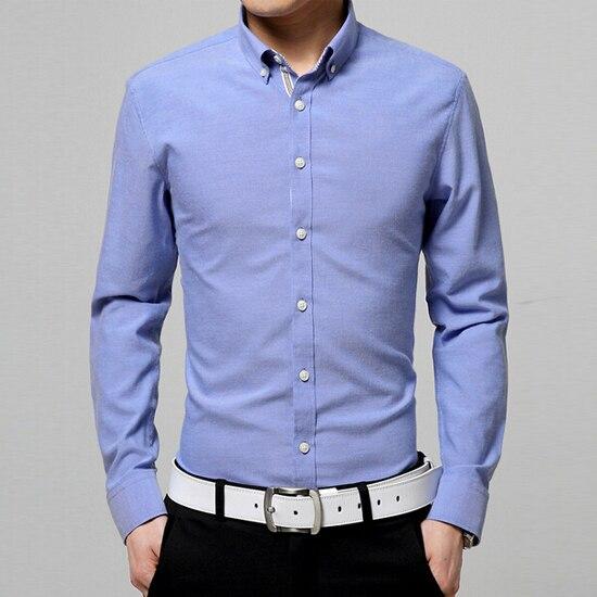 2016 Весенняя Мода Бесплатная Доставка Мужчины Твердые Рубашка С Длинным Рукавом Лацканы Рубашки Формальные Хлопок Camisas Hombre Camisa Masculina