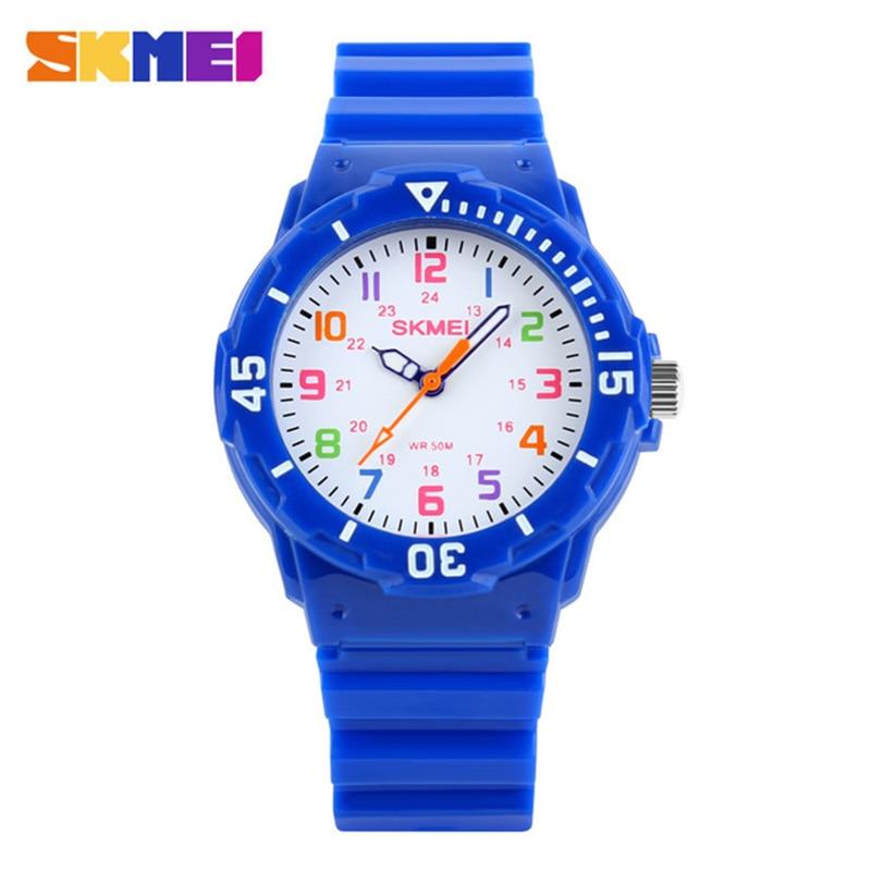 Часы наручные Детские кварцевые, водонепроницаемые аналоговые люксовые для мальчиков и девочек, для студентов, 50 м