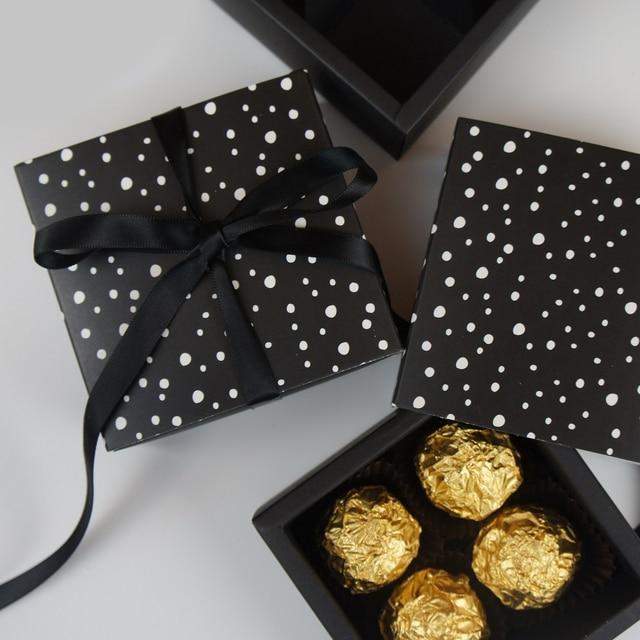 8 9 8 9 3 5cm Black White Design 10 Set Chocolate Paper Box