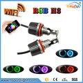 WI-FI RGB H8 72 Вт LED Angel Eyes Лампы для BMW E87 E82 E92 E93 E70 E71 E90 E91 E60 E61 E63 E64 LED Маркер автомобилей angel eyes свет лампы