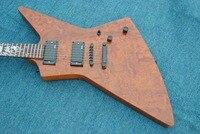 نماذج جديدة من الغيتار الكهربائي في لون الخشب الطبيعي ، متجر مخصص الغيتار الثالثة و الكروم الأجهزة ، النار الفسيفساء الشمسية ، الشحن t