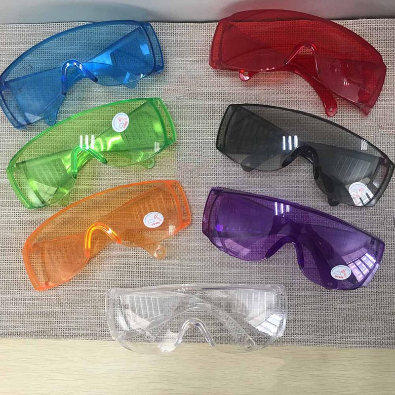 Protective Safety Goggles Glasses Work Dental Eye Protection Spectacles Eyewear Anti-shock Goggles Color Goggles(China)