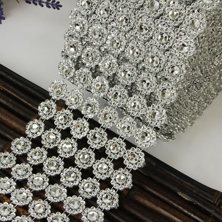 Hot Sale Silver 3 75 Quot 3ft 1yards 6rows Sunflower Diamond