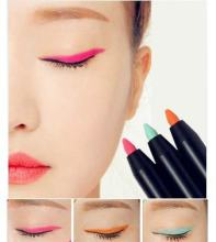 New Waterproof Long Wear Lasting Eyeliner Cream Gel Pencil Fashion Colorful Eyeliner Pen Green / Orange / Pink