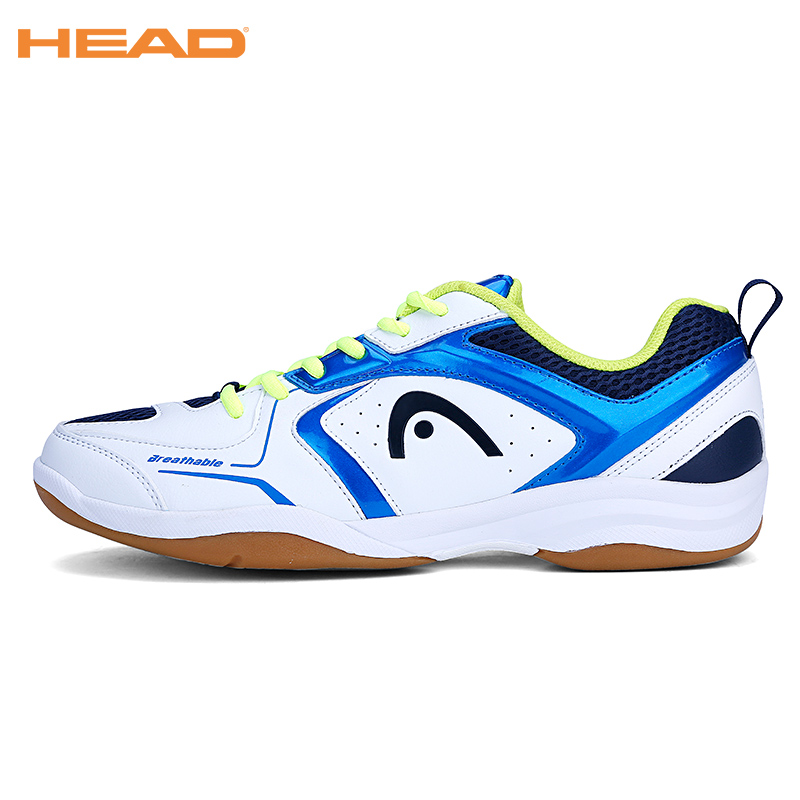 HEAD Light Non Slip Badminton Shoes for Men Training Breathable Anti-Slippery Men's Tennis Sneakers Professional Sport Shoes Hot professional cushioning volleyball shoes unisex light sports breathable shoe women sneakers badminton table tennis shoes g364