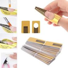 100Pcs Nail Art Tips Extension DIY Tool Acrylic UV Gel Women Nail Art Styling Tools Manicure High Quality Forms Guide French 827