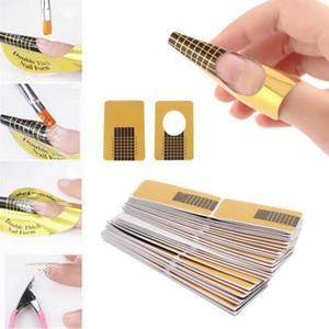 Image 1 - 100Pcs Nail art Tipps Verlängerung DIY Tool Acryl UV Gel Frauen Nail art Styling Werkzeuge Maniküre Hohe Qualität Formen guide Französisch 827